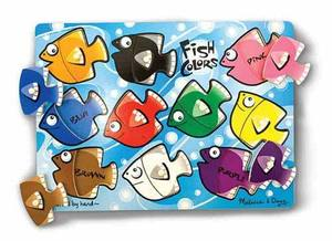 Fish Colors Mix 'n Match Peg Puzzle - 10 pieces