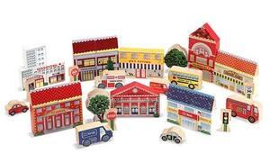 Town Blocks Wooden Play Set