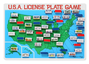 U.S.A. License Plate Game Travel Game