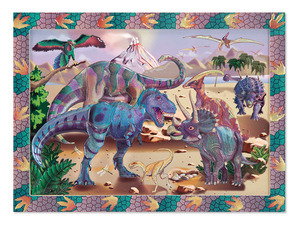 Dino Dusk Peel & Press Sticker by Numbers