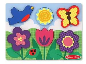 Chunky Puzzle Scene - Flower Garden Puzzle - 6 Pieces