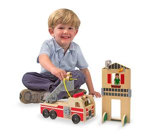 Whittle World Wooden Fire Rescue Set