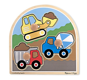 Construction Site Jumbo Knob Puzzle - 3 pieces