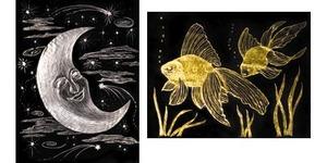 Scratch Art Paper Gold & Silver Foil (10 sheets)