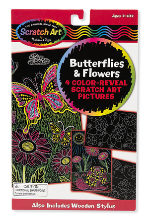 Scratch Art® Color-Reveal Pictures - Butterflies & Flowers