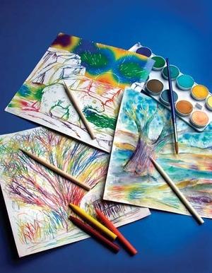 Scratch Art Paper Rainbow White (50)