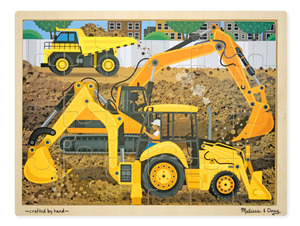 Construction Wooden Jigsaw Puzzle - 24 Pieces