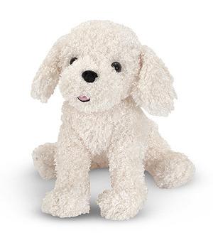 Fluffy Bichon Frise Puppy Dog Stuffed Animal