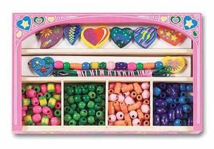Sweet Hearts Wooden Bead Set