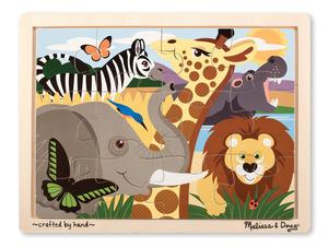 Safari Wooden Jigsaw Puzzle - 12 pieces
