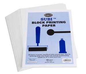 Scratch Art Subi Block Printing Paper White (100 sheets 9