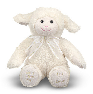 Jesus Loves Me Singing Lamb Stuffed Animal