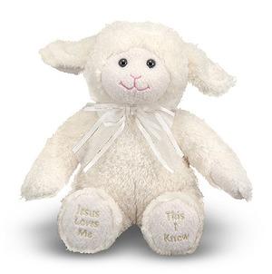 Jesus Loves Me Singing Lamb Stuffed Animal