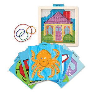 Stretch & Match Geoboard Toy