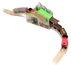 Magic Mine Wooden Train Tunnel Set