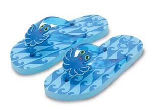 Flex Octopus Flip-Flops Size 6-7
