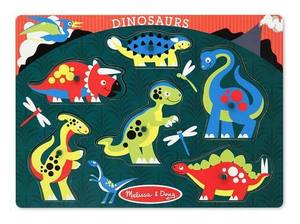 Dinosaurs Peg Puzzle - 6 Pieces