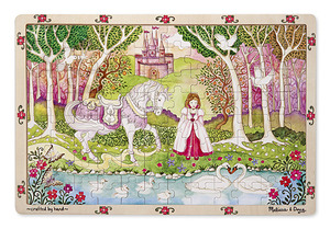 Pastoral Princess Wooden Jigsaw Puzzle - 96 Pieces