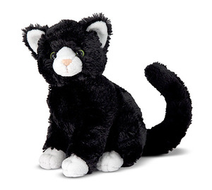 Midnight Black Cat Stuffed Animal
