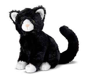 Midnight Black Cat Stuffed Animal
