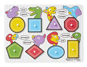 Shapes Peg Puzzle - 8 Pieces