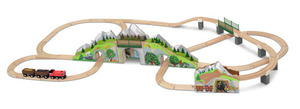 Mountain Tunnel Wooden Train Set