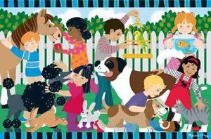 Backyard Pets Floor Puzzle - 24 Pieces