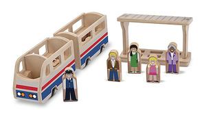 Whittle World Wooden Train Platform Set