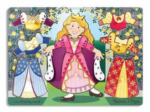 Princess Dress-Up Mix 'n Match Peg Puzzle - 8 Pieces