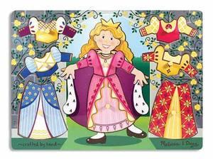 Princess Dress-Up Mix 'n Match Peg Puzzle - 8 Pieces