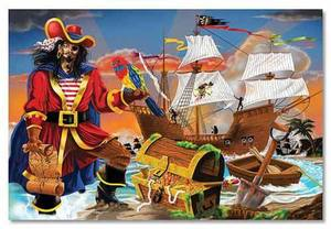 Pirate's Bounty Floor Puzzle - 100 Pieces
