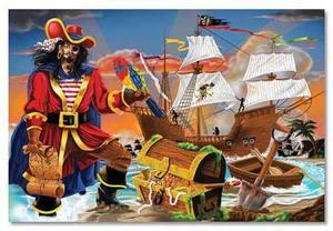 Pirate's Bounty Floor Puzzle - 100 Pieces