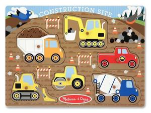 Construction Site Peg Puzzle - 6 Pieces