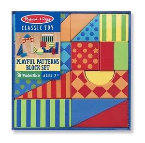 Playful Patterns Wooden Blocks Set