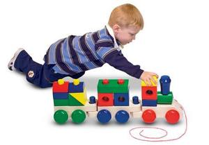 Jumbo Stacking Train Wooden Playset