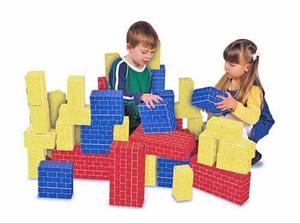 Deluxe Jumbo Cardboard Blocks - 40 Pieces