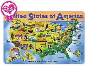 U.S.A. Map Wooden Puzzle