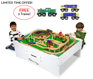 Train Table with 2 FREE Trains