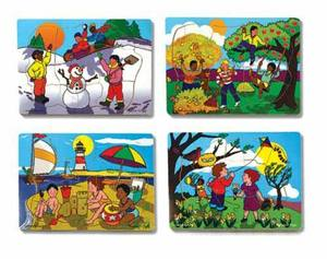 Seasons Puzzle Set