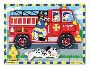 Fire Truck Chunky Puzzle - 18 Pieces