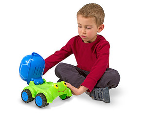 Scootin' Turtle Cement Mixer Toy