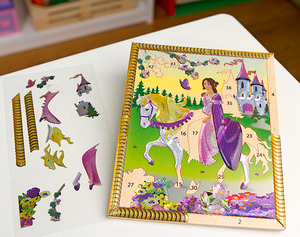 Princess Castle Petite Peel & Press Sticker by Numbers Party Favor