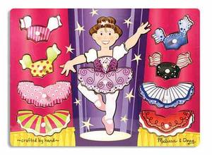 Ballerina Dress-Up Mix 'n Match Peg Puzzle - 10 Pieces