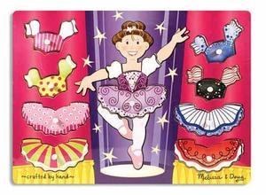 Ballerina Dress-Up Mix 'n Match Peg Puzzle - 10 Pieces