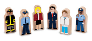 Whittle World People at Work Wooden Set