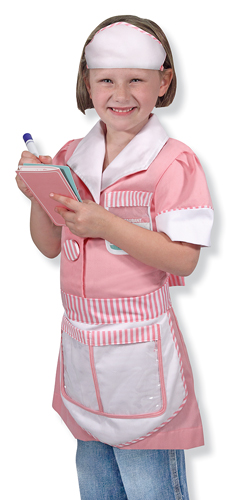 Waitress Role Play Costume Set