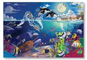 Underwater Playground Cardboard Jigsaw - 200 Pieces