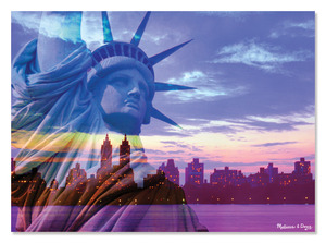 Liberty Skyline Cardboard Jigsaw - 500 Pieces