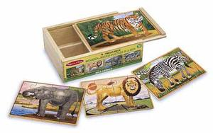 Wild Animals Jigsaw Puzzles in a Box