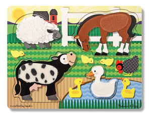 Farm Touch and Feel Puzzle - 4 Pieces